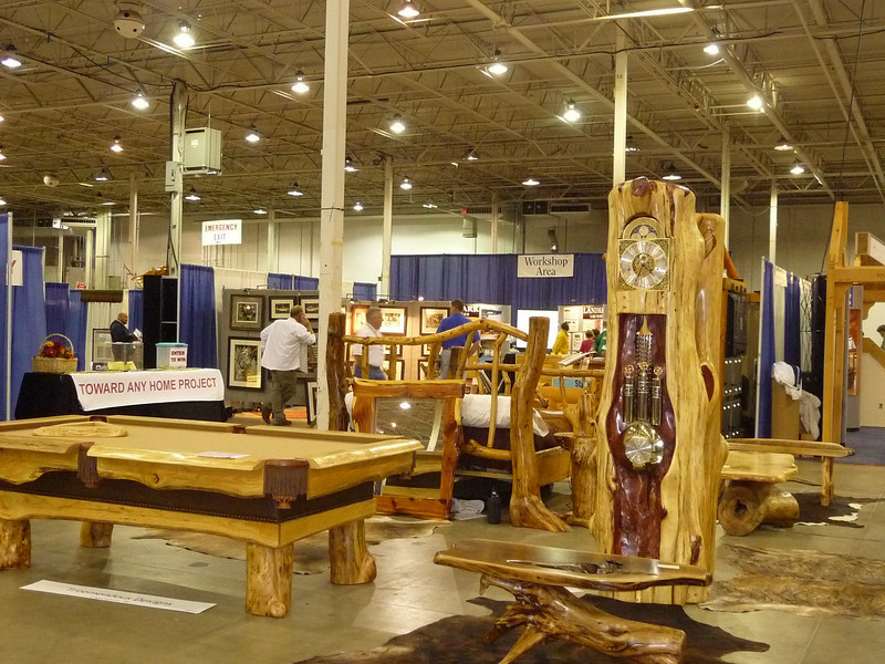 There Were Also A Large Number Of Log Furniture Companies, Most Featuring  One Of A Kind Products That Were Unbelievably Gorgeous.